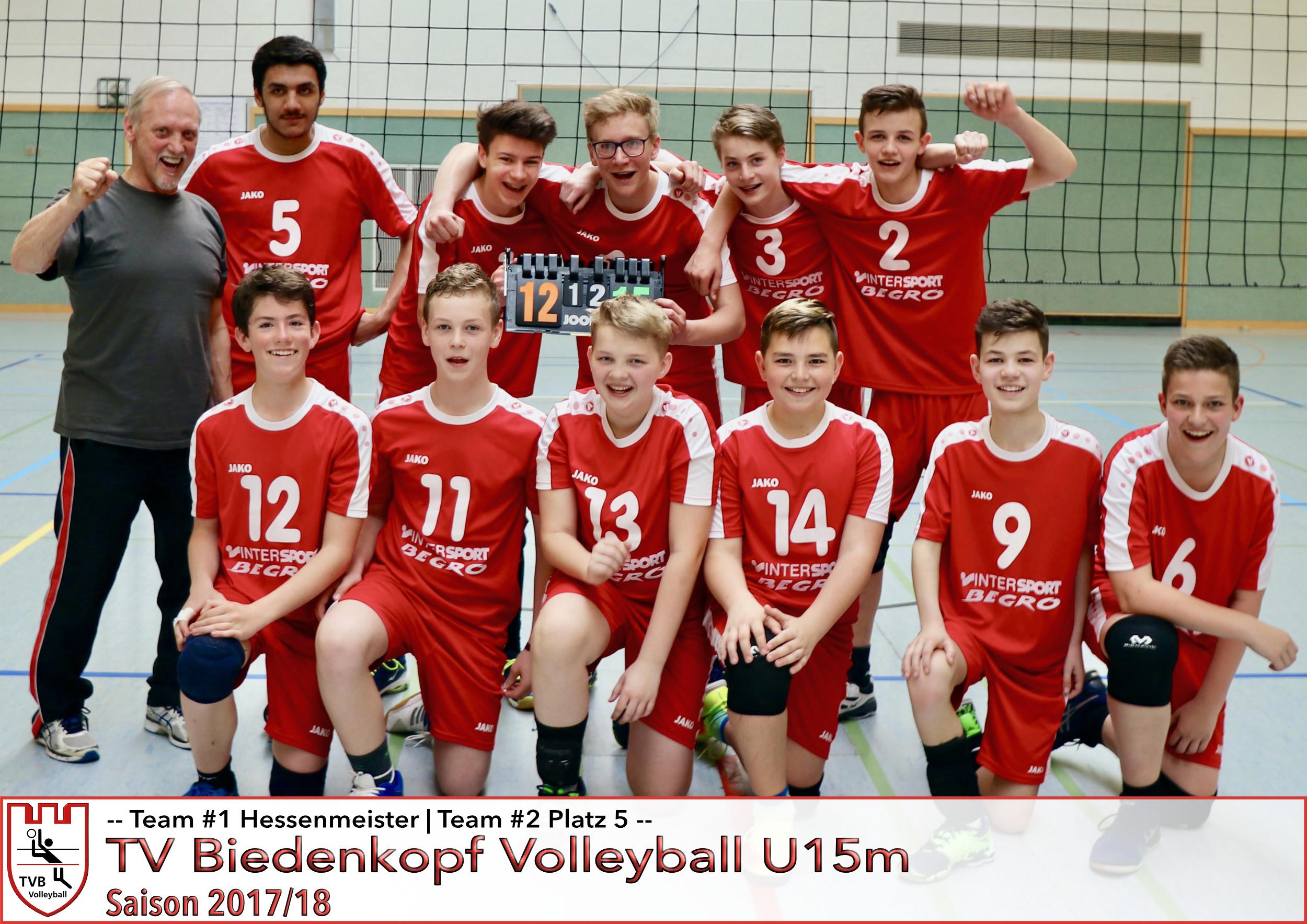 Volleyball U15m TV Biedenkopf Saison 2017/18