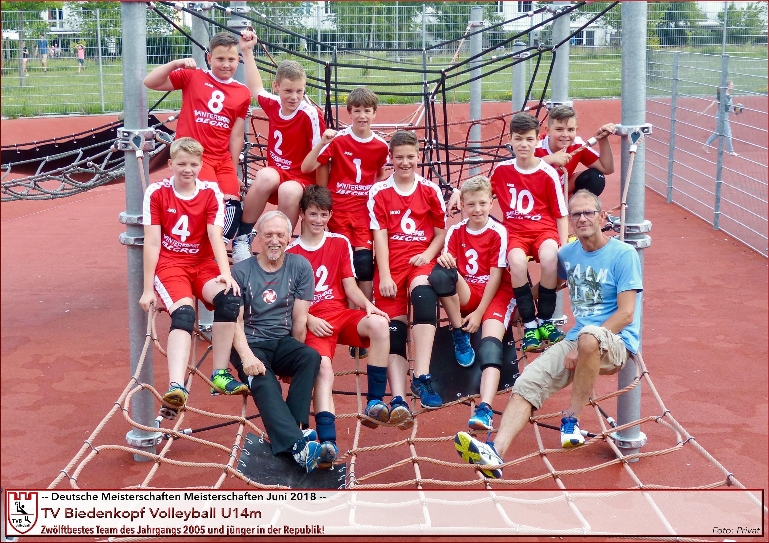 U14m | TV Biedenkopf Volleyball 12. Platz Deutsche Meisterschaften 2018