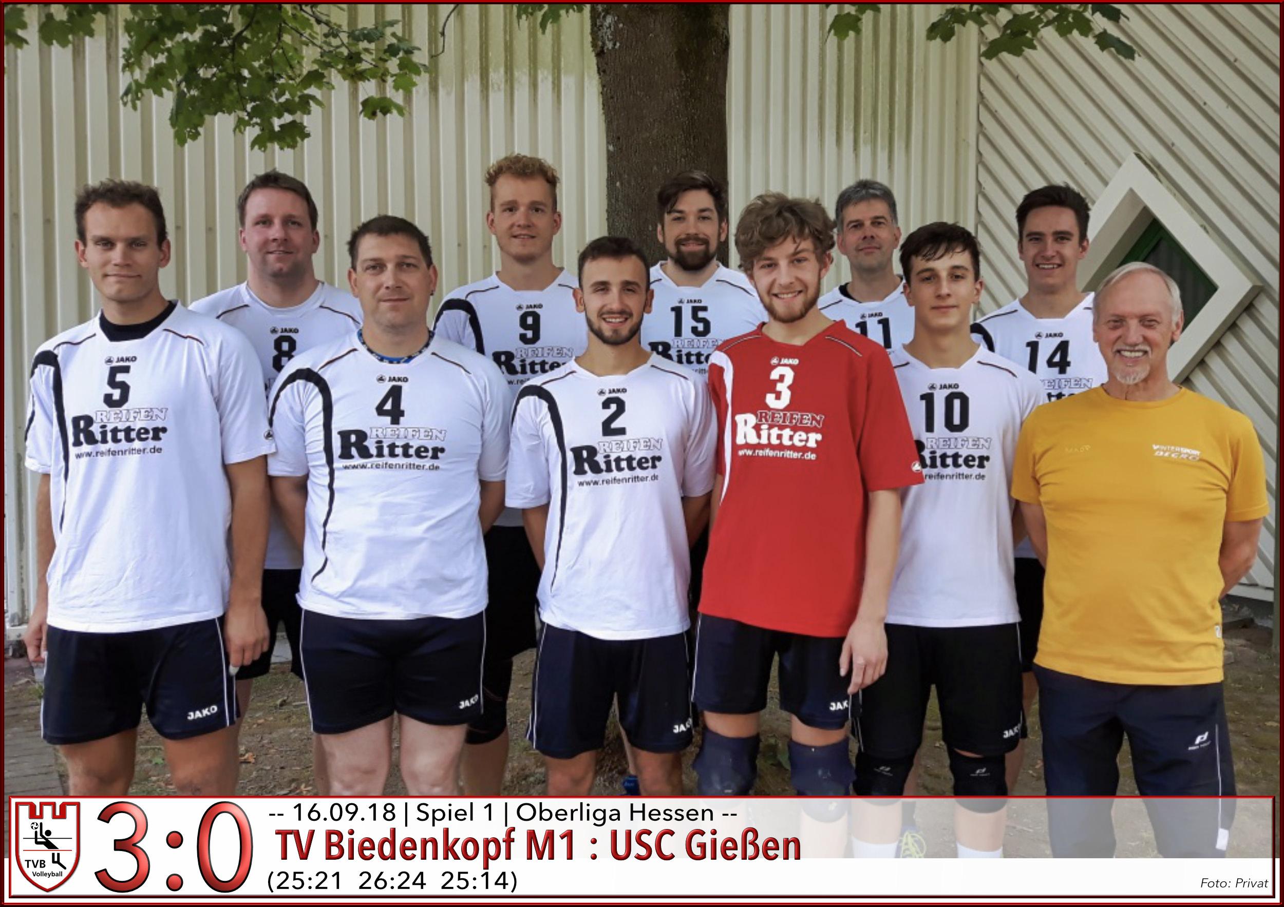 Volleyball TV Biedenkopf gewinnt gegen den USC Gießen mit 3:0