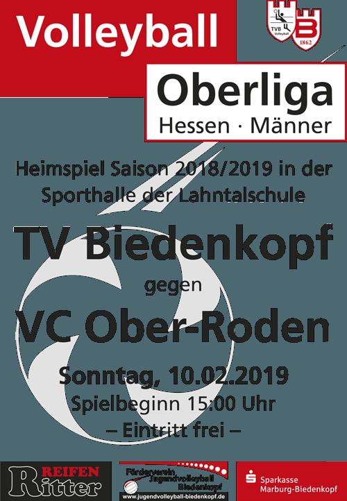 Volleyball Oberliga Hessen | TV Biedenkopf gegen VC Ober-Roden am 10.2.1019