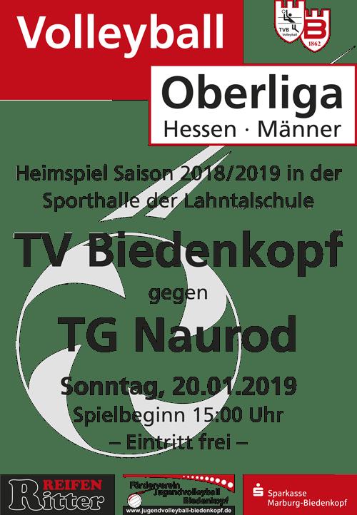 Volleyball Oberliga Hessen   TV Biedenkopf gegen TG Naurod am 20. Januar 2019