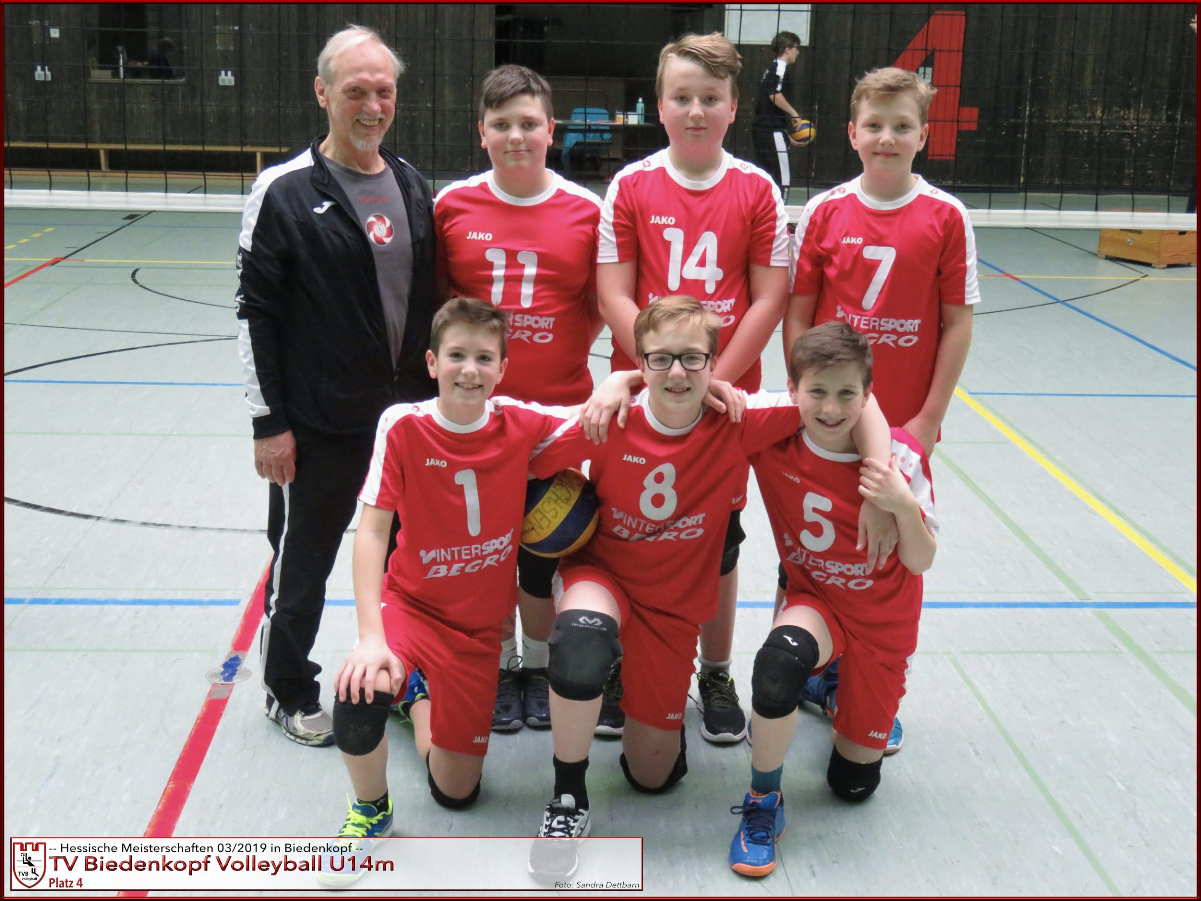 Volleyball TV Biedenkopf U14m Hessenmeisterschaften März 2019 Platz Vier