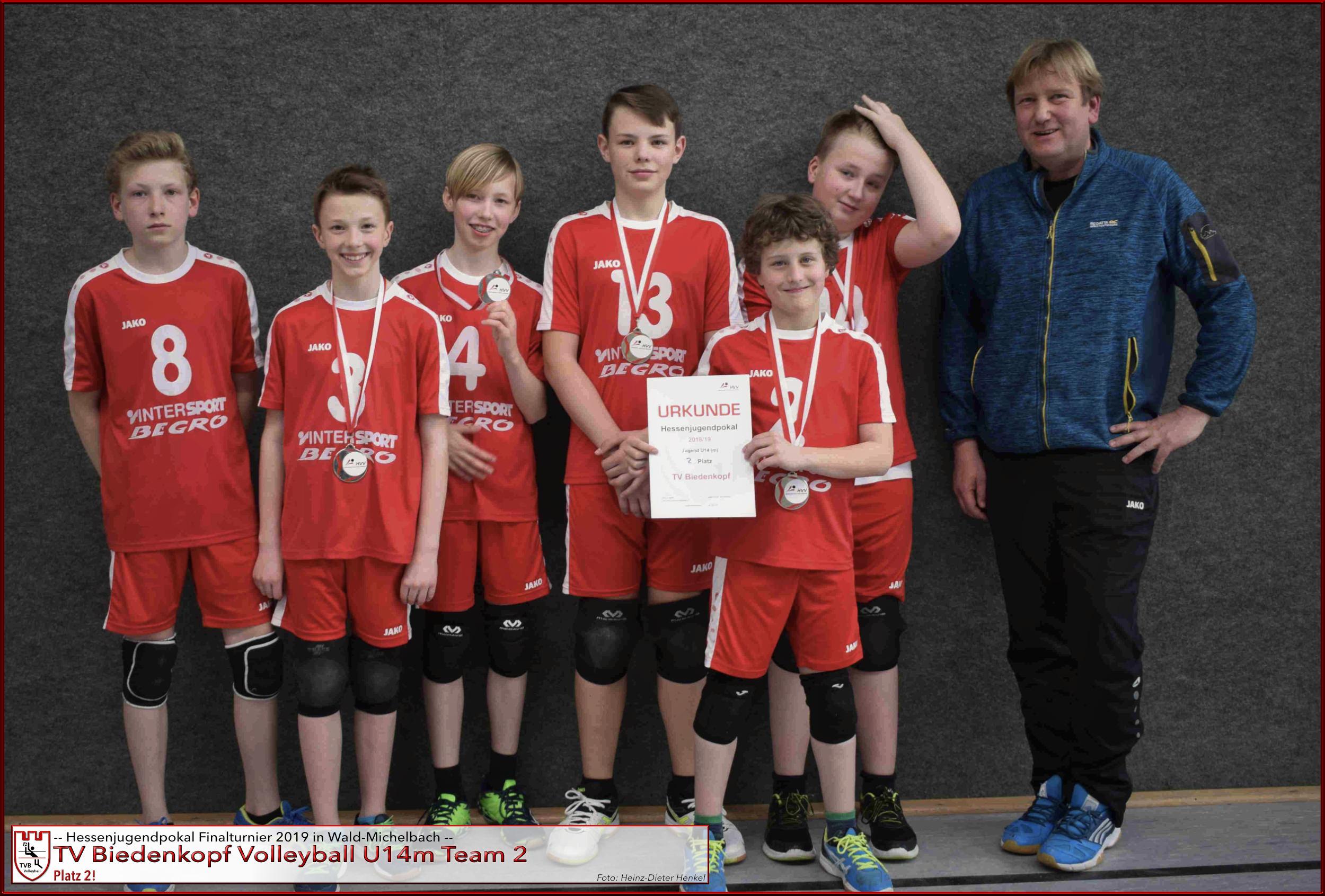 Volleyball TV Biedenkopf U14m II Hessenjugendpokalfinale 2019 Platz 2