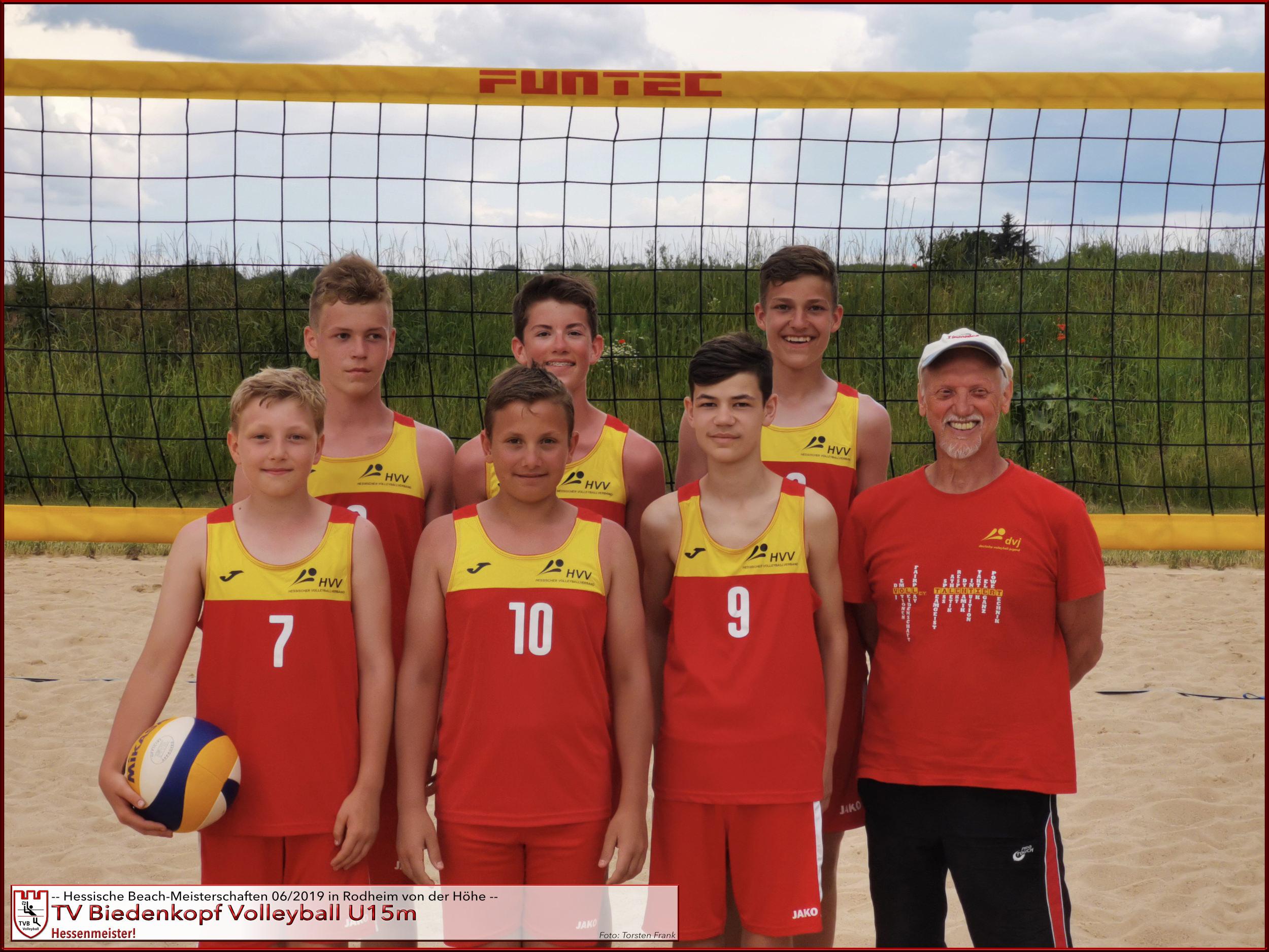 Volleyball U15m TV Biedenkopf   Hessischer Beach-Meister 2019